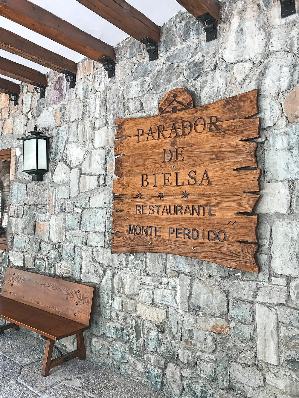 montaña, parador, restaurante, naturaleza