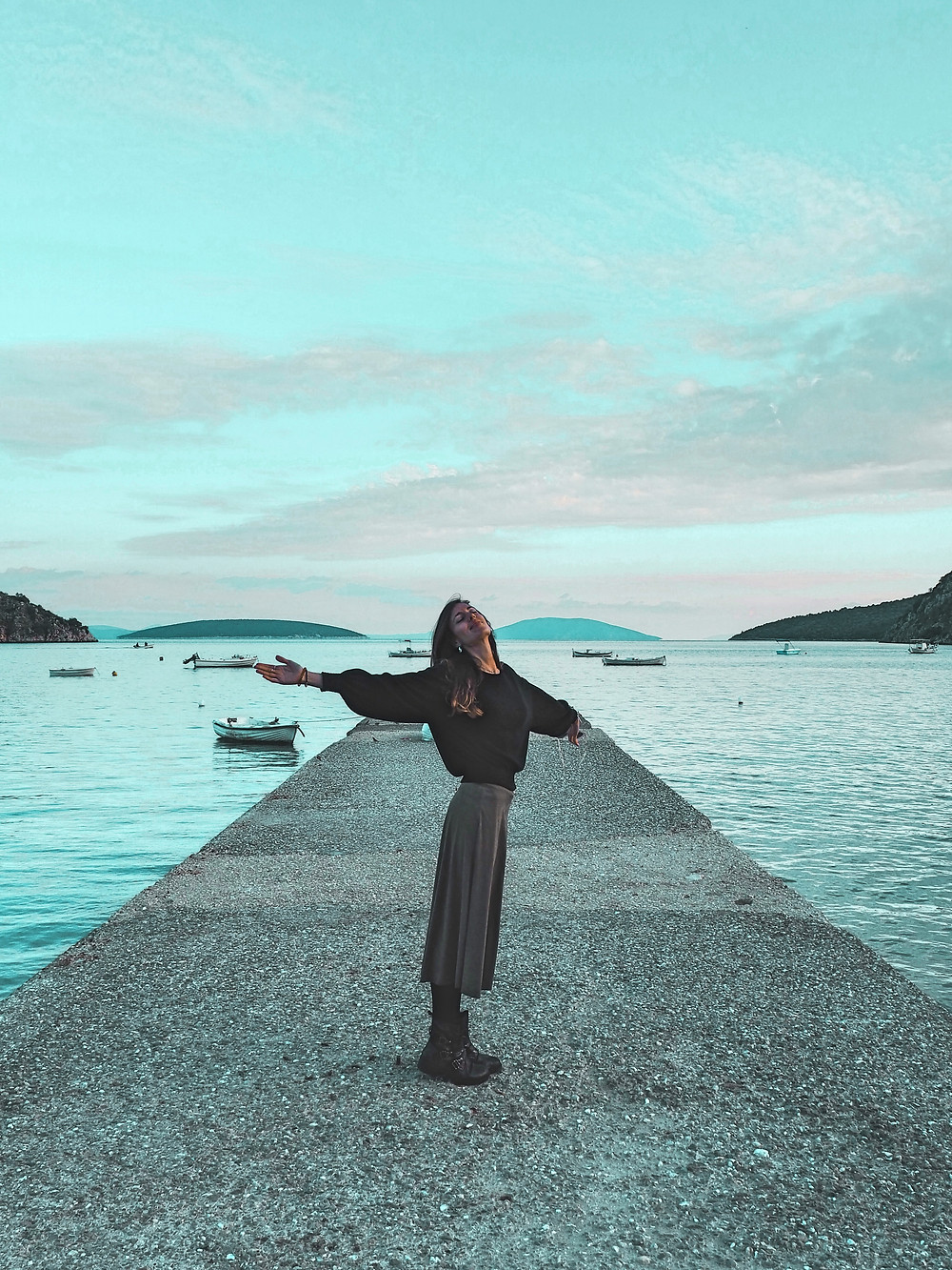 playa, atardecer, calma, relax, felicidad, mar, Grecia