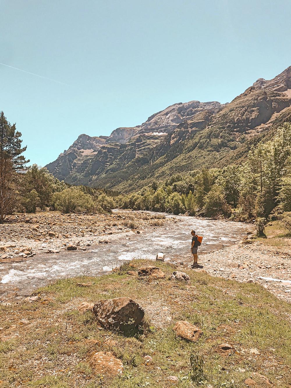 montaña, naturaleza, paisaje, río, Aragón, vistas, Pirineo