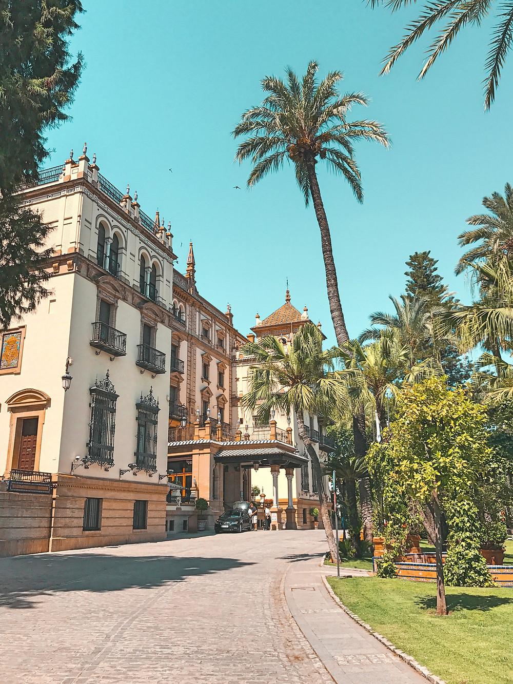 Sevilla, paisaje, casas, calle, encanto