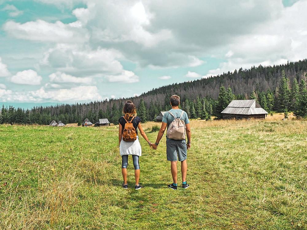 naturaleza, bosque, pareja, verano, planeta, montaña