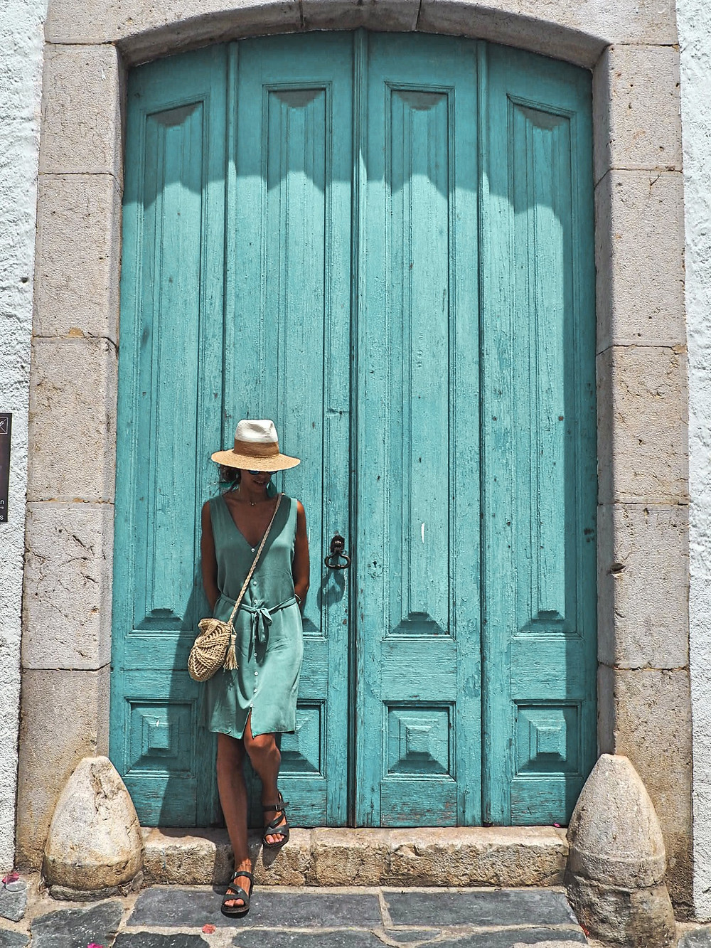 puerta, historias, misterio, azul, verano