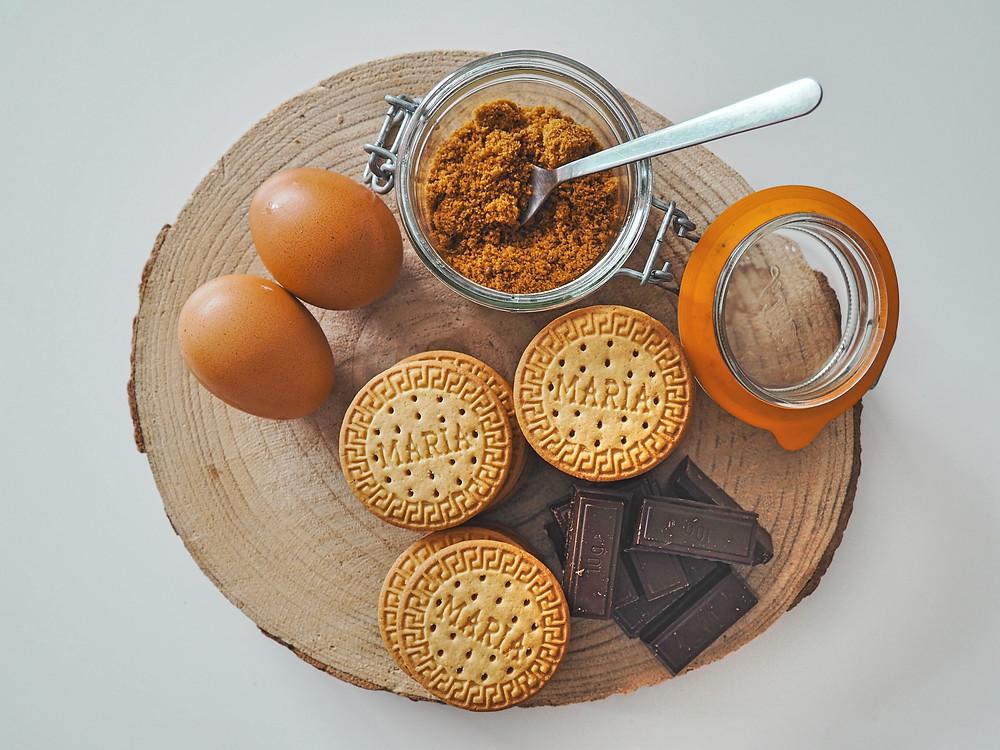 receta, galletas, chocolate, huevos, panela