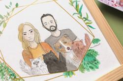 Portrait illustré - famille