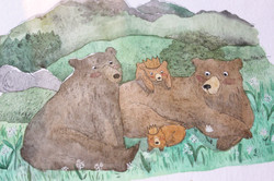 Tableau animaux - famille ours