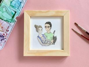 Autoportrait de famille illustré