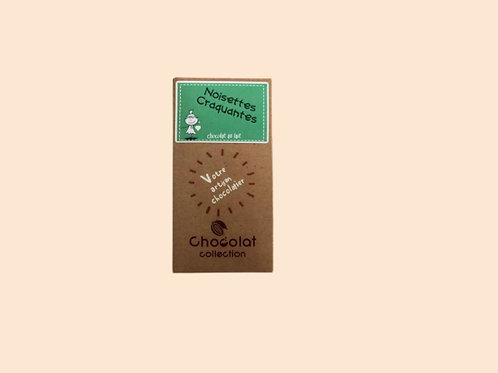 Tablette chocolat lait noisettes craquantes 70gr