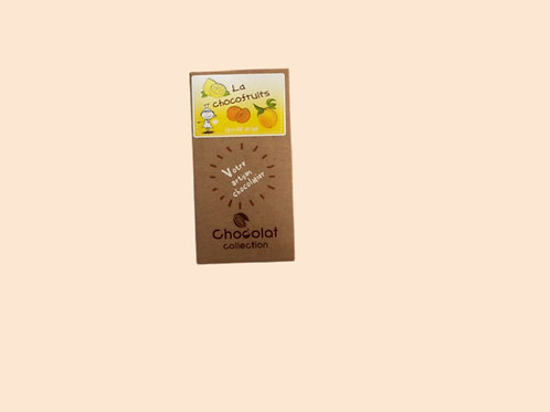 "Tablette chocolat lait ""chocofruits"" 80gr"
