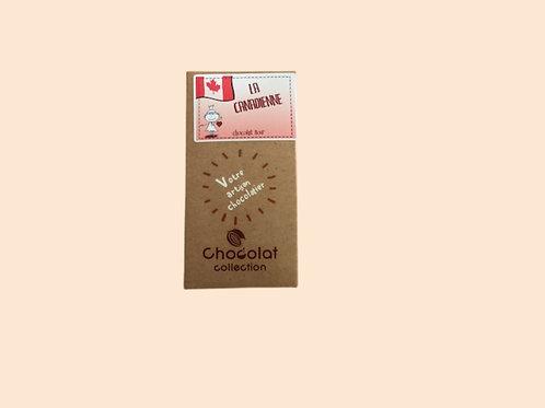 """Tablette chocolat noir """"La canadienne"""" 80gr"""