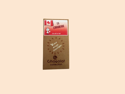 "Tablette chocolat lait ""La Canadienne"" 80gr"