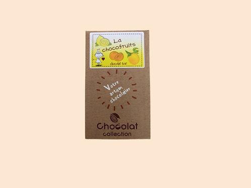 "Tablette chocolat noir ""chocofruits"" 80gr"