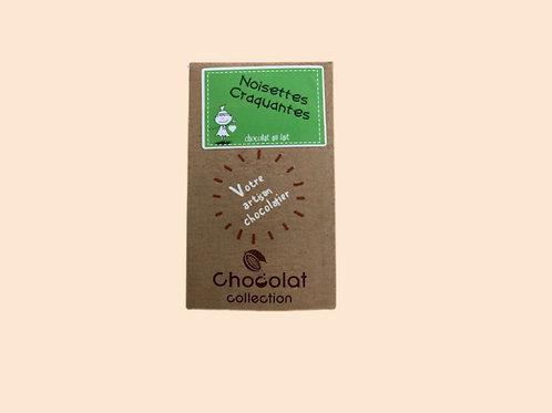 Tablette chocolat noir noisettes craquantes 70gr