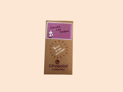 Tablette chocolat lait fondant 70gr