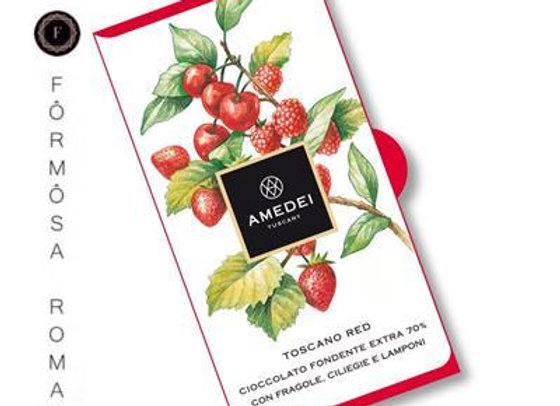 Amedei TOSCANO RED - CIOCCOLATO FONDENTE托斯卡尼漿紅莓果莊園黑巧克力Bar