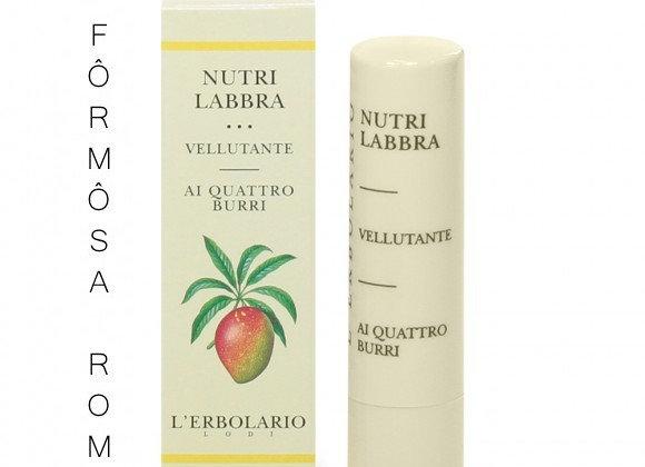 Nutrilabbra Vellutante 乳果滋潤唇膏 Velvet lip nutrient with four butters 4,5 ml