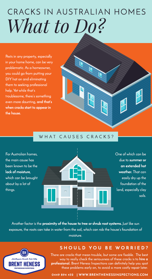 What to do with cracks in Aussie homes - Brent Heness Inspections pinterest graphic