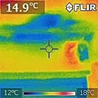Thermal  Image of dampness