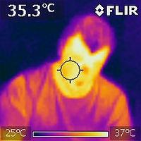 Thermal Image of human