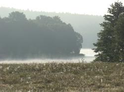 Jezioro o świcie