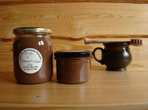 Miód kremowany z ziarnami kakaowca
