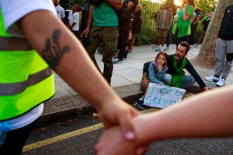 Grenfell Tower first year anniversary slient march , 2018