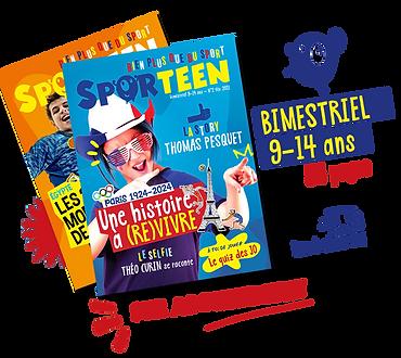 Couvertures de Sporteen - Bimestriel Sport pour 9-14 ans