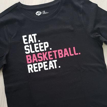 Custom T-shirt - Eat. Sleep. Bball.