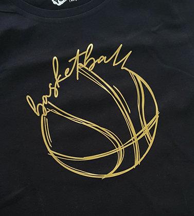 Custom T-shirt - Golden Basketball