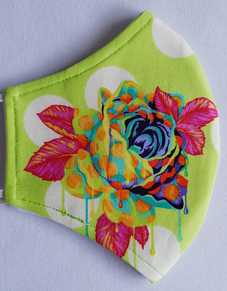 Mask - Dripping Roses - Lime
