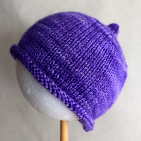 Basic Beanie - Purple - Size 0-3M (Newborn)