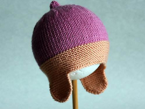 Peaches and Pink Vintage Racing Helmet - Size 3-6M