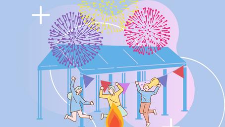 Od wielkanocnych ognisk po halloweenowe imprezy i festiwale uliczne