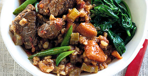 Healthy Food Guide Slow-cooked Beef, Barley & Vegetables