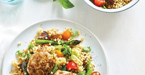 Healthy Food Guide Chicken thighs with dukkah couscous salad