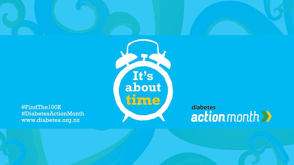 Diabetes action month logo #findthe100K #diabetesactionmonth