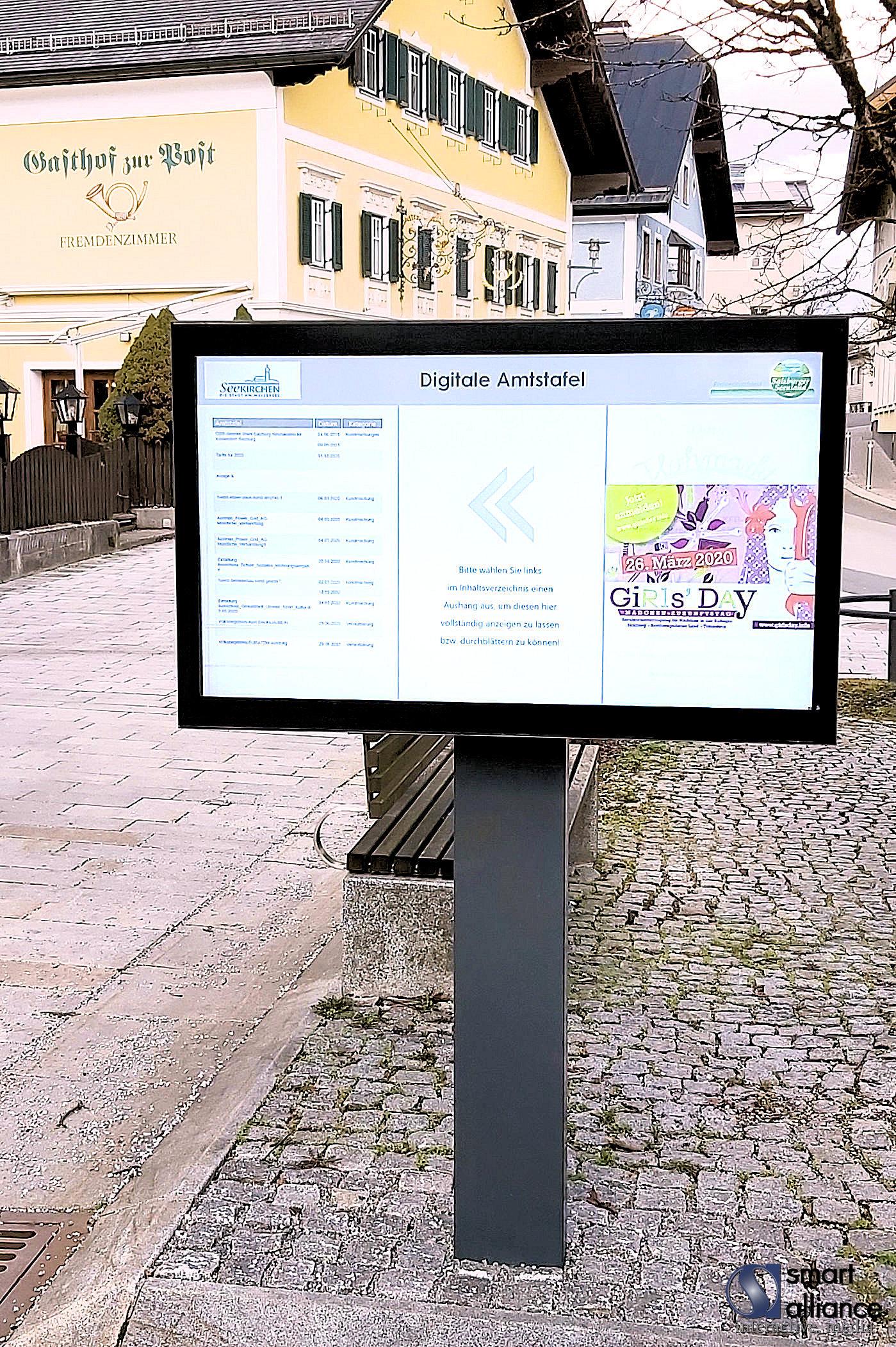 Die Digitale Amtstafel - freistehende Outdoor