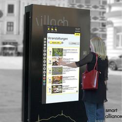 Stele 75/55 passiv und interaktiv - EpaMedia mit Stadt Villach