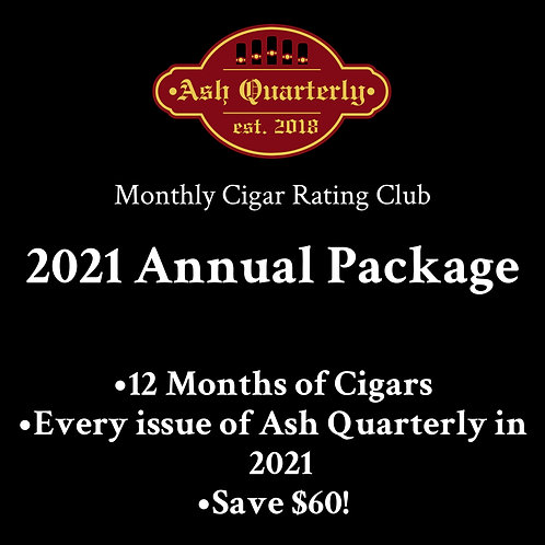 Monthly Cigar Rating Club 2021 Annual Package