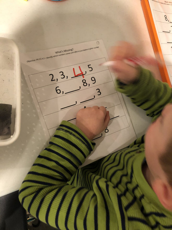 identifying missing numbers