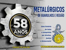 Sindicato dos Metalúrgicos de Guarulhos completa 58 anos