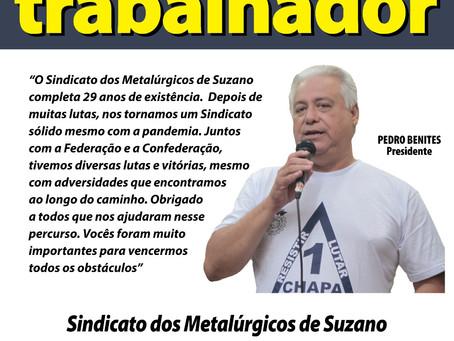 Suzano: Sindicato completa 29 anos de Luta pelos Metalúrgicos