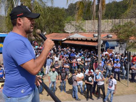 Jundiaí: Trabalhadores da Thyssenkrupp suspendem protestos até audiência no TRT