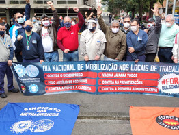 Metalúrgicos de São Paulo e Mogi das Cruzes reforçam atos pelo Brasil: por vacinas, emprego, auxílio