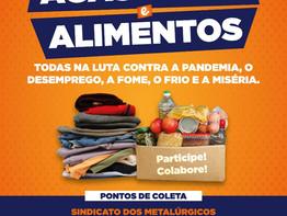 São Paulo: Sindicato lança campanha unificada de agasalhos e alimentos