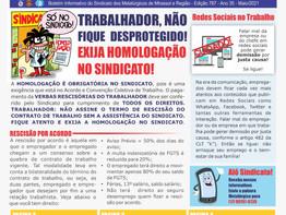 Mirassol: Sindicato lança novo boletim