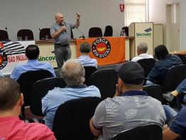 Em Ribeirão Preto, Miguel Torres destaca o abaixo-assinado contra a reforma da Previdência