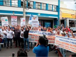 Metalúrgicos de Piracicaba e região protestam em defesa da Previdência Social