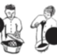 Une illustrations des propriétaires du bistro