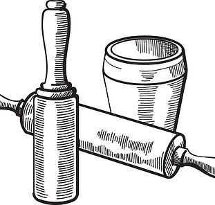Illustration d'outils de pâtisseri