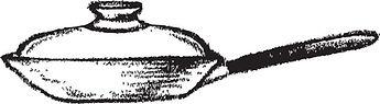 Illustration d'une poêle